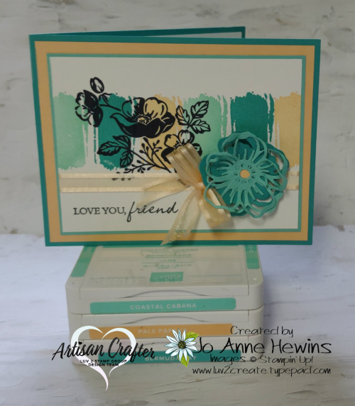 Textures and Frames with Ink Pads by Jo Anne Hewins