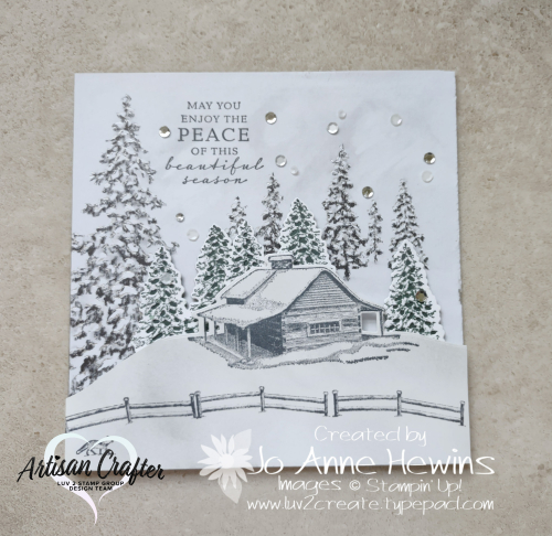Peaceful Place 6 x 6 Frame by Jo Anne Hewins