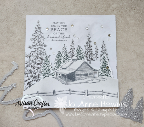 Peaceful Place 6 x 6 Frame with Dies by Jo Anne Hewins