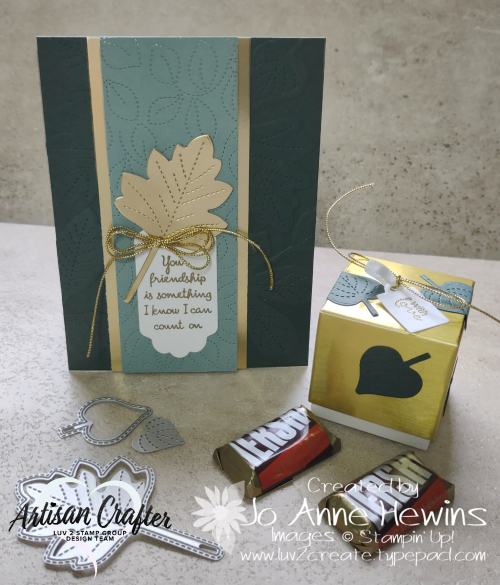OSAT for August Love of Leaves Card and 3D Project by Jo Anne Hewins