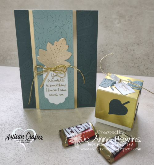 OSAT for August Love of Leaves Card and Treat Box by Jo Anne Hewins