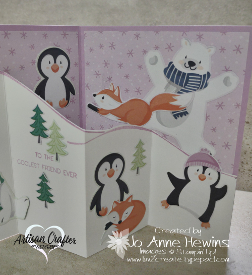 Penguin Place Fun Fold for Facebook Live 8.11.2021 Right Inside by Jo Anne Hewins