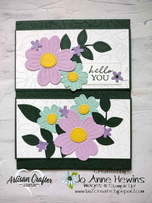 Pierced Blooms Interlocking Fold Card by Jo Anne Hewins