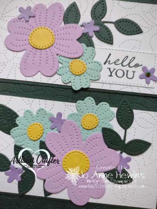 Pierced Blooms Interlocking Fold Close Up by Jo Anne Hewins
