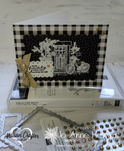 Feels Like Home and Pattern Party DSP Card by Jo Anne Hewins