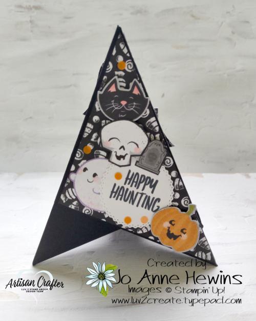 Teepee Card Side 1 Cute Halloween  Halloween Punch  Cutest Halloween by Jo Anne Hewins