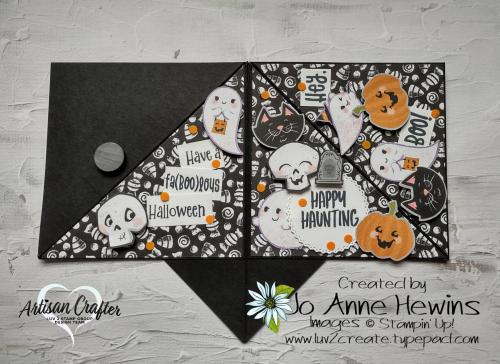 Teepee Card Outside  Cutest Halloween  Cute Halloween DSP  Halloween Punch by Jo Anne Hewins