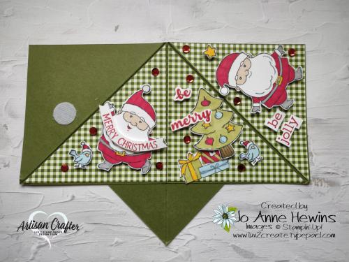 Teepee Card Outside Be Jolly  Heartwarming Hugs DSP  Jo Anne Hewins