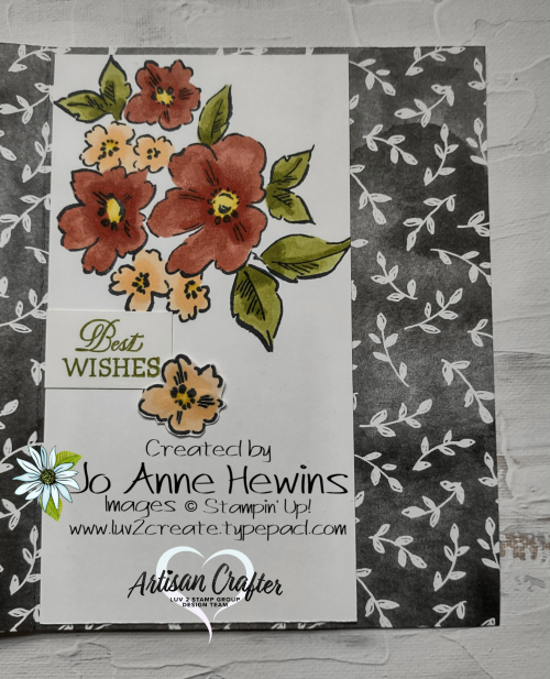 Beautifully Penned with Hand-Penned Petals Inside  Accordian Fold  by Jo Anne Hewins