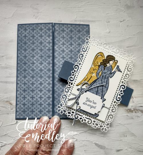 September Tutorial Medley Angels of Peace  ornate frames dies  Ornate layers dies  Harvest Meadow DSP  Paper Piecing by Jo Anne Hewins
