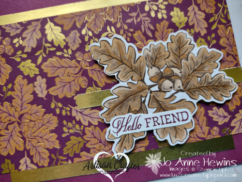 CCMC #687 Blackberry Beauty DSP  Close Up  Blackberry Beauty Ephemera Pack  Wink of Stella  Gold Foil  Banners Pick a Punch  Welcoming Woods  Jo Anne Hewins  Luv 2 Create