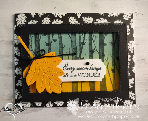 Facebook Live 10.20.2021 Welcoming Woods  Blending Brushes  Stitched Rectangles dies  Stitched Leaves dies  Luv 2 Create  Jo Anne Hewins
