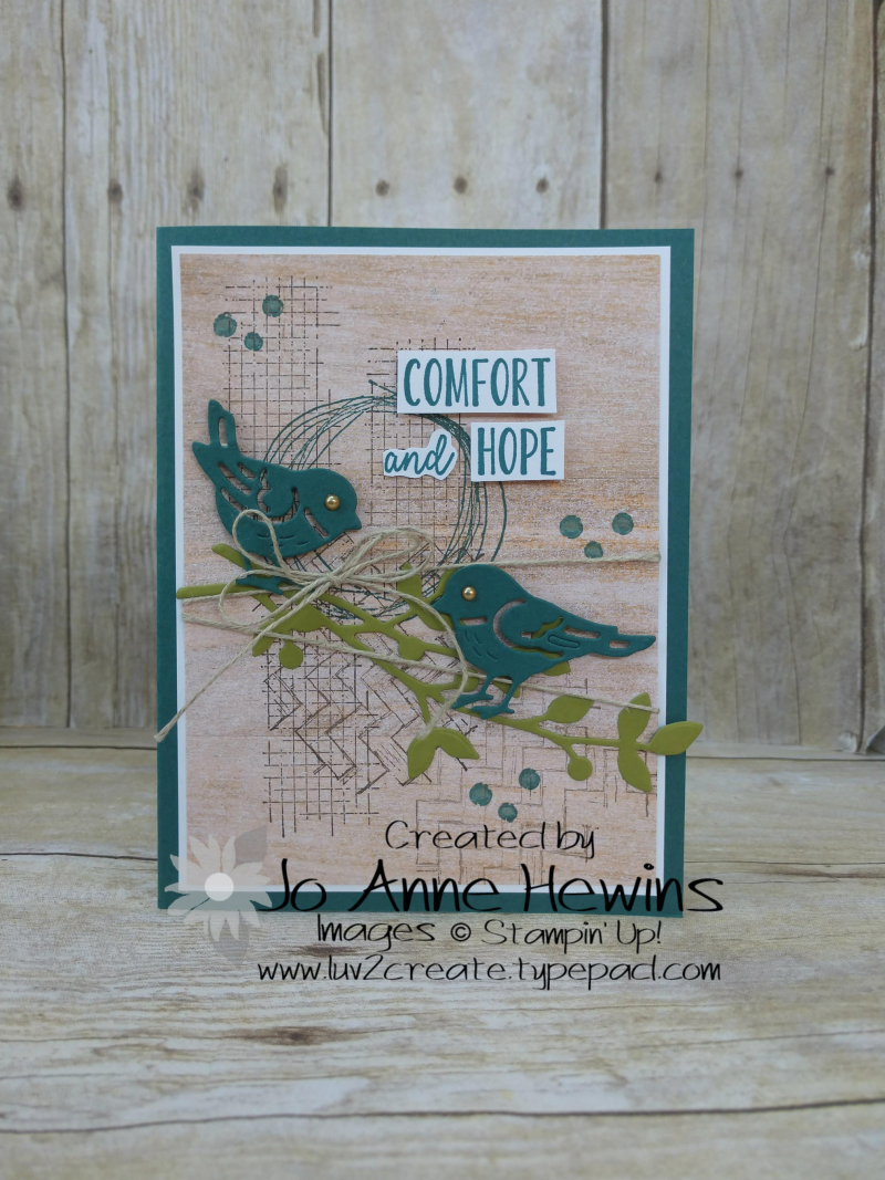 Comfort and Hope Card by Jo Anne Hewins