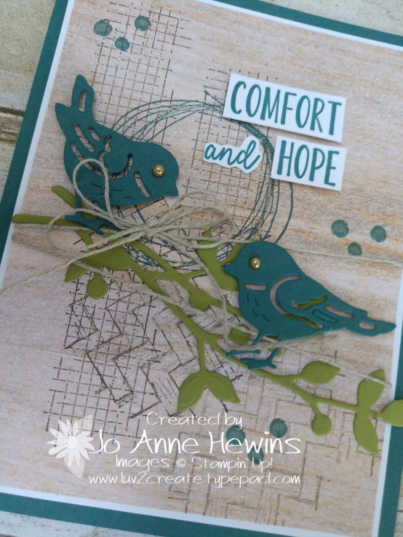 Comfort and Hope Close Up by Jo Anne Hewins