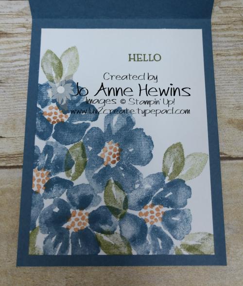 CCMC #626 Blossoms in Bloom Inside by Jo Anne Hewins