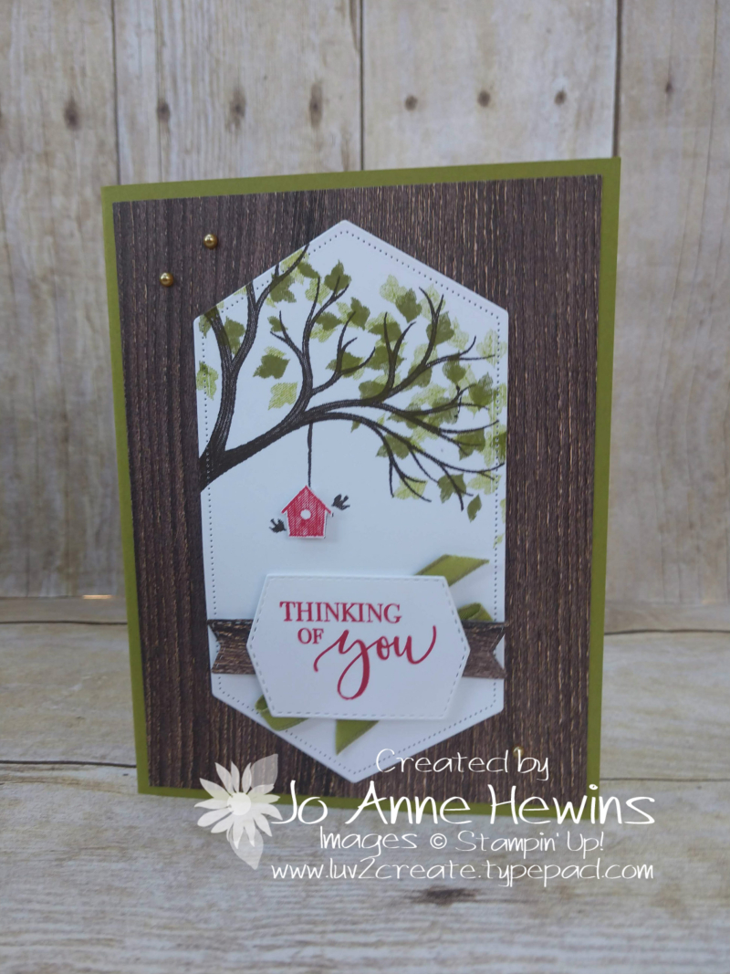 Life is Beautiful Stitched Nested Labels Card by Jo Anne Hewins