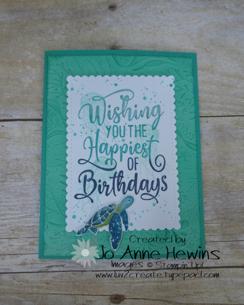 Seabed Happiest of Birthdays by Jo Anne Hewins