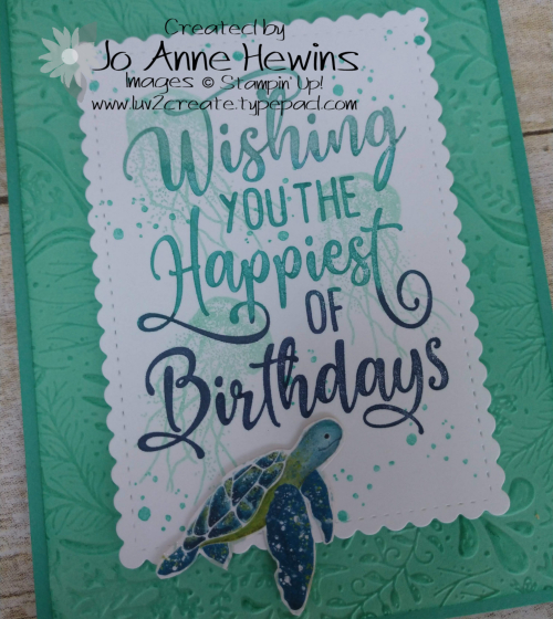 Seabed Happiest of Birthdays Close Up by Jo Anne Hewins