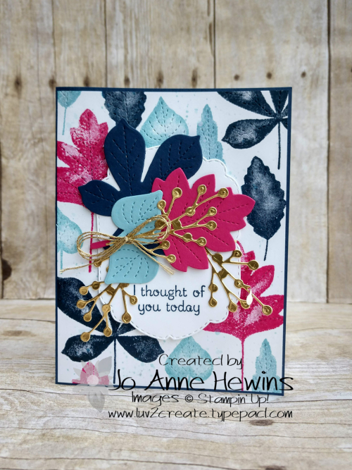 Color Fusers for September Love of Leaves Card by Jo Anne Hewins