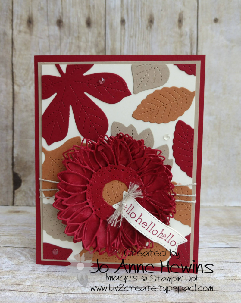 Color Fusers for October Love of Leaves Card by Jo Anne Hewins