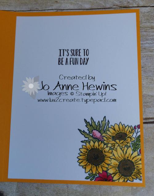 Jar of Flowers for Jessie Inside by Jo Anne Hewins