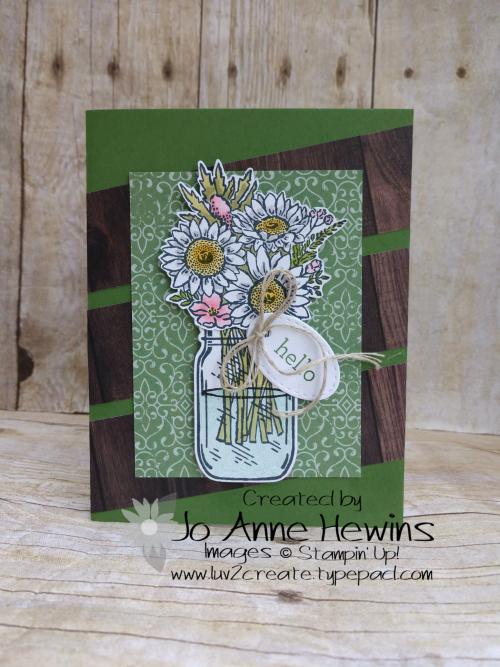 Jar of Flowers Project by Jo Anne Hewins
