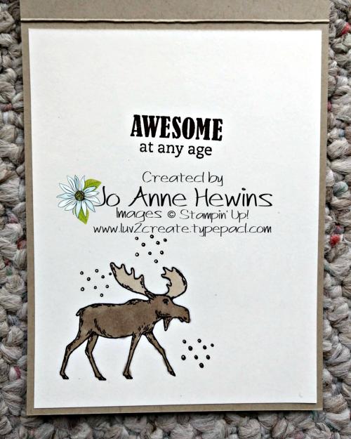 Merry Moose Inside by Jo Anne Hewins