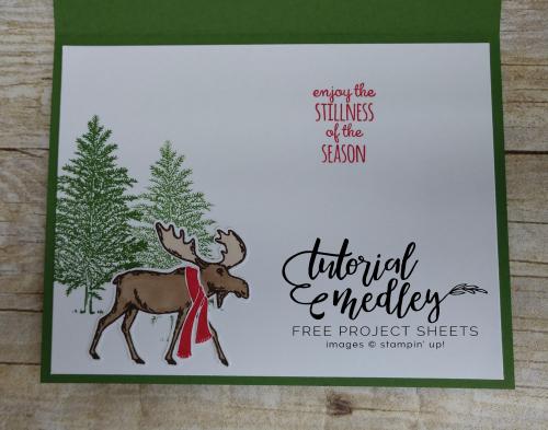 Tutorial Medley for October Merry Moose Inside