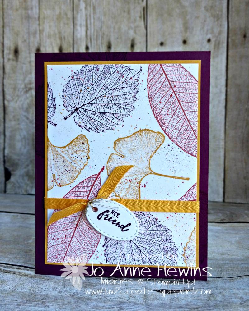 CCMC #638 Loyal Leaves Card by Jo Anne Hewins