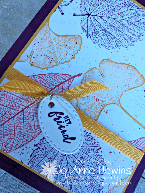 CCMC #638 Loyal Leaves Close Up by Jo Anne Hewins