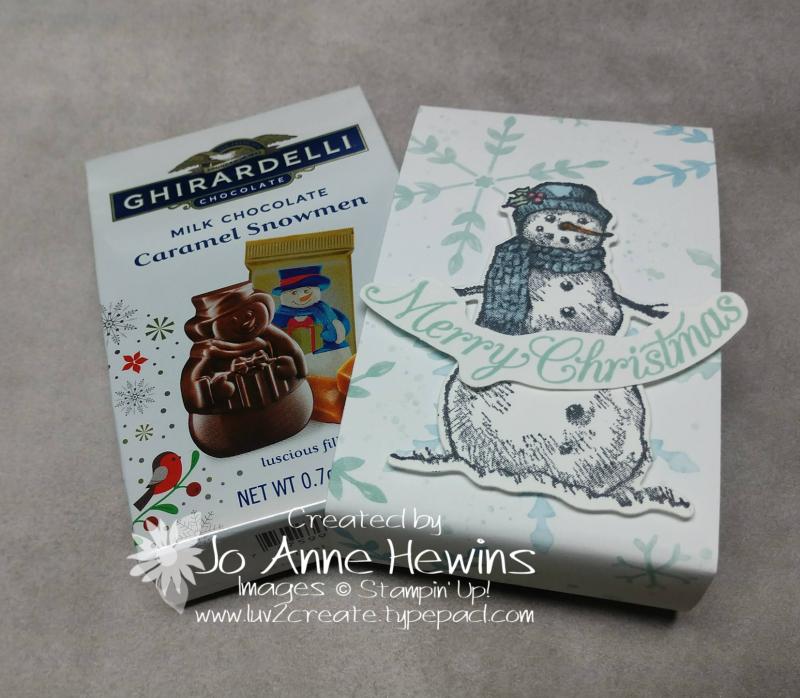 OSAT Nov Snow Wonder Ghirardelli candy with holder by Jo Anne Hewins