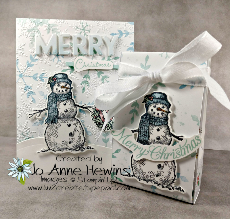 OSAT Nov Snow Wonder Card and 3D Duo by Jo Anne Hewins