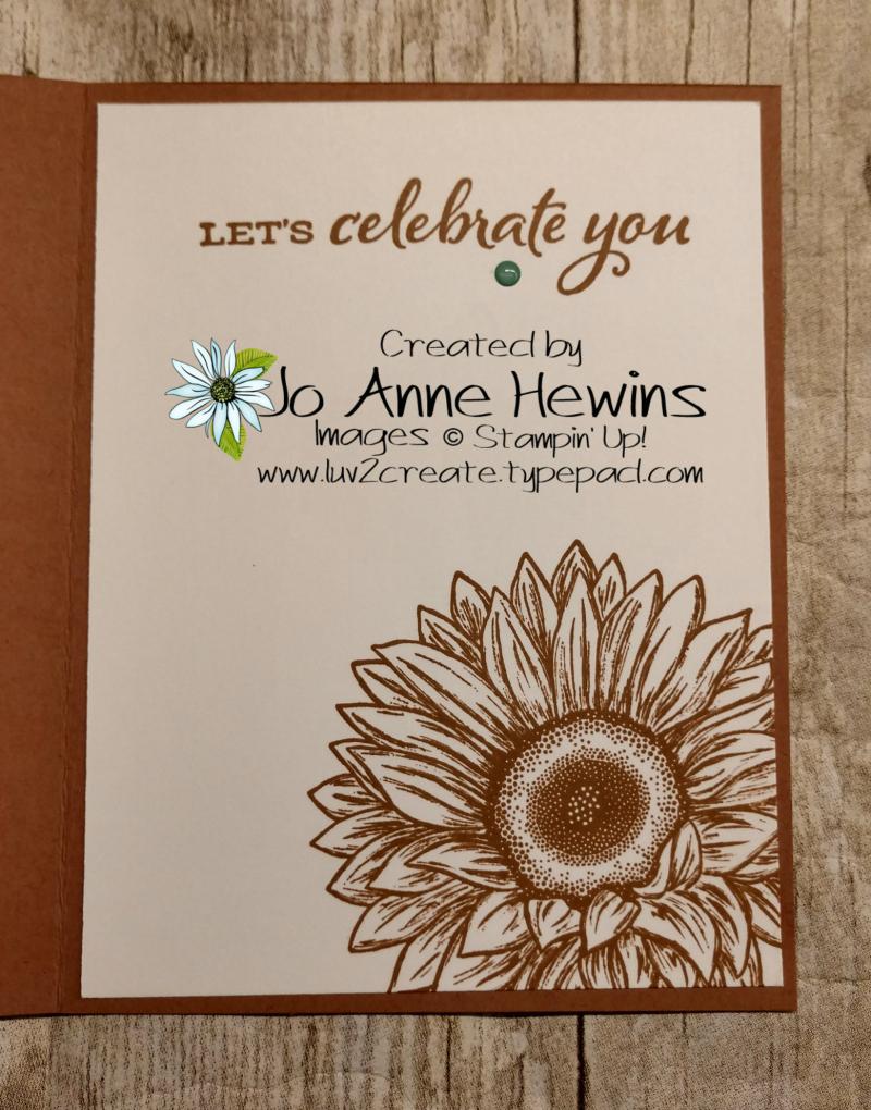 Celebrate Sunflowers Inside by Jo Anne Hewins