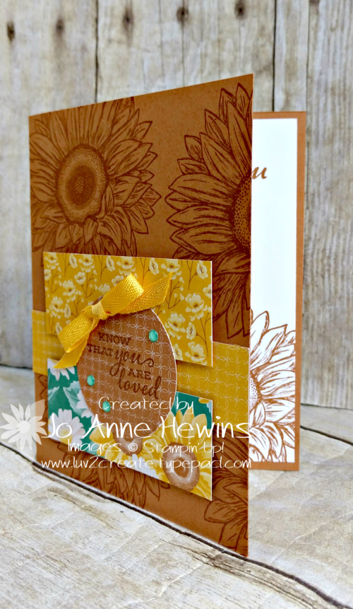 Celebrate Sunflowers Card by Jo Anne Hewins