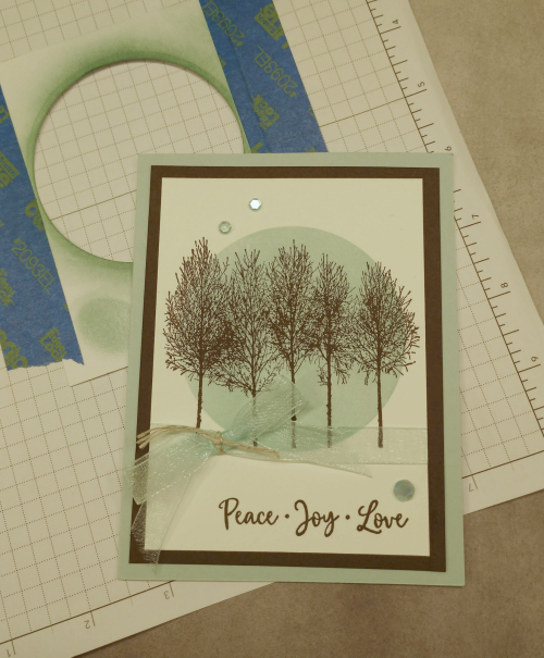 Masking Winter Woods Card  by Jo Anne Hewins