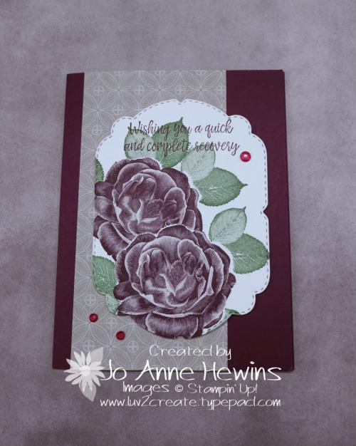 Masking Healing Hugs Card by Jo Anne Hewins