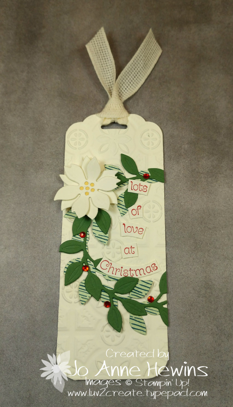 Wreath Builder Christmas Tag by Jo Anne Hewins
