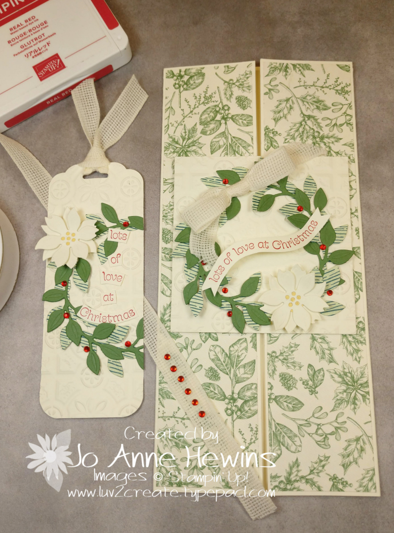 Wreath Builder Christmas Tag and Card by Jo Anne Hewins
