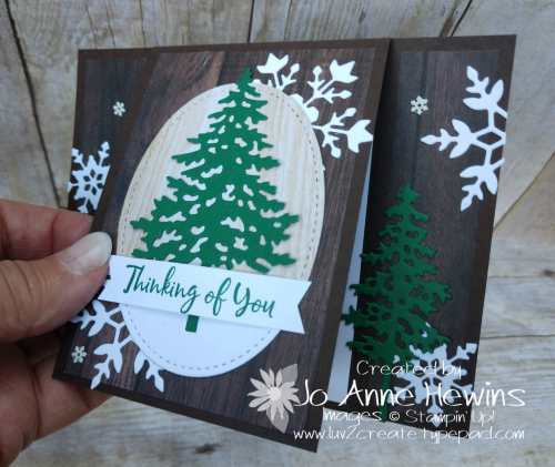 In the Pines Tutorial Close Up by Jo Anne Hewins