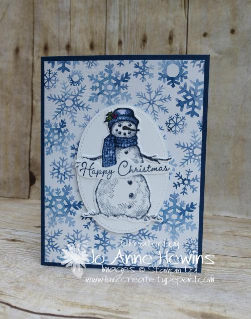 Snow Wonder & Snowflake Splendor DSP Card by Jo Anne Hewins