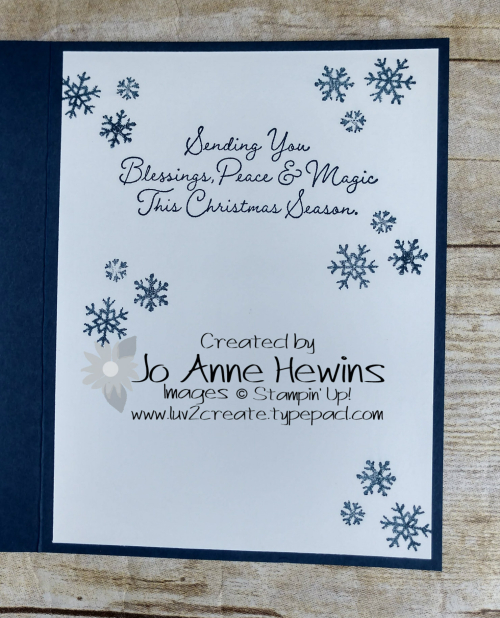 Snow Wonder & Snowflake Splendor DSP Inside by Jo Anne Hewins