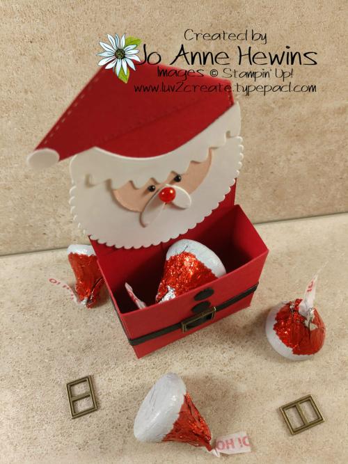 Little Treat Box Dies Santa Holder by Jo Anne Hewins