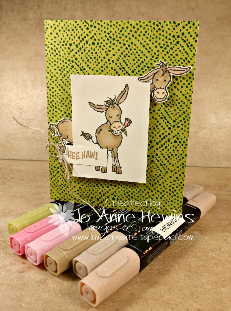 CCMC #643 Darling Donkeys Card by Jo Anne Hewins