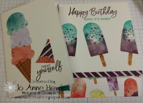 Ice Cream Corner Suite Cards by Jo Anne Hewins