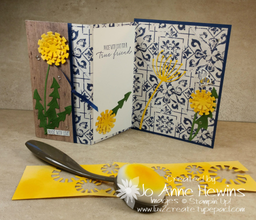 Garden Wishes Bundle Fun fold with Blender Brush by Jo Anne Hewins