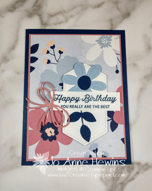 Paper Blooms DSP Card 3 by Jo Anne Hewins