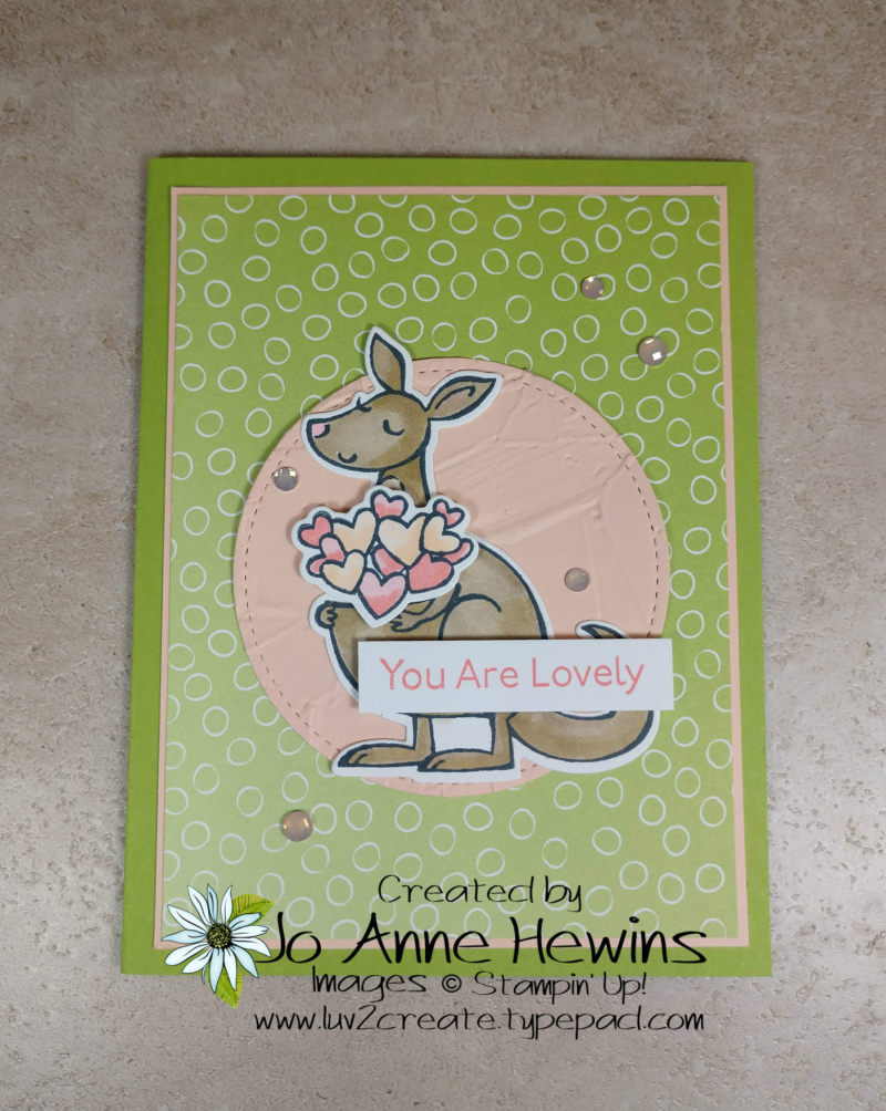 Kangaroo & Company Ombre Card by Jo Anne Hewins
