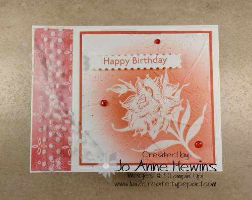 Flowering Blooms Birthday Project by Jo Anne Hewins
