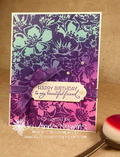 Color Fusers Wild Roses with Blending Brushes by Jo Anne Hewins