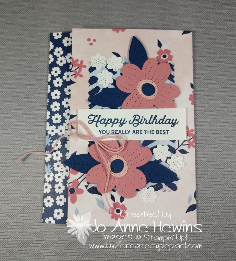 Paper Blooms DSP Fun Fold by Jo Anne Hewins